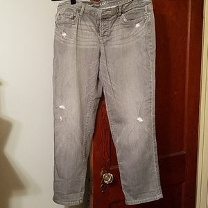 Loft Gray Boyfriend Jeans